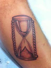 Simple sand clock tattoo