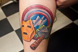 Simple superhero theme tattoo