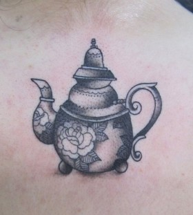 Simple teapot tattoo