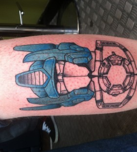 Simple transformers arm tattoo