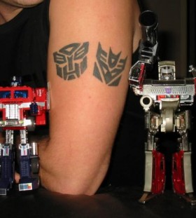 Simple transformers logo tattoos