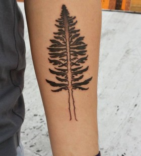 Simple tree tattoo by Rachel Hauer