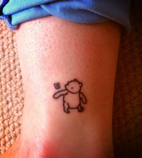Simple winnie the pooh tattoo