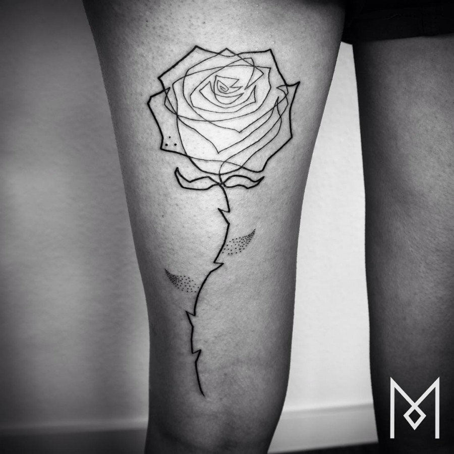 single-line-blackwork-rose-tattoo-by-mo-ganji