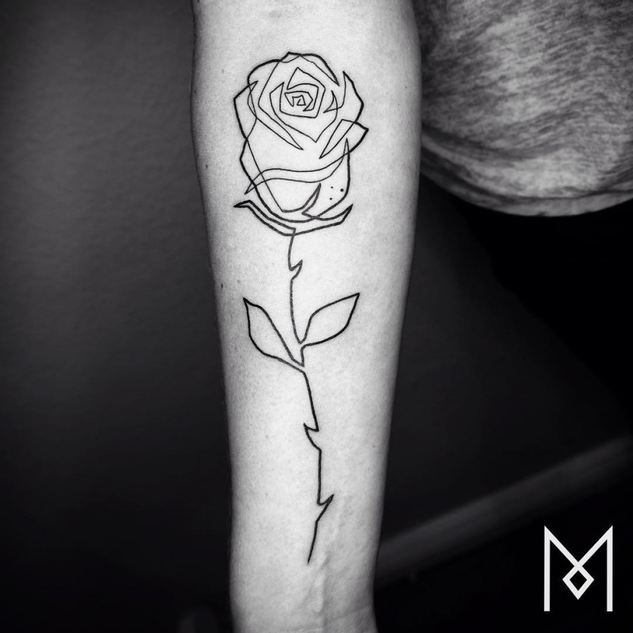single-line-rose-tattoo-by-mo-ganji