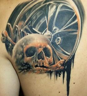 Skull tattoo by James Tattooart