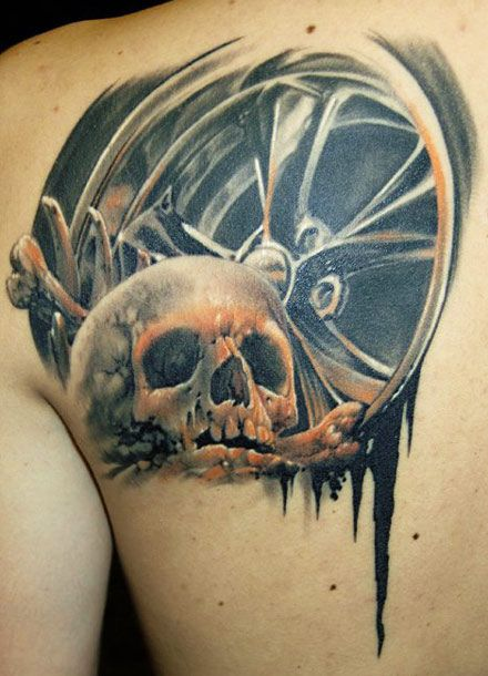 Skull tattoo by James Tattooart