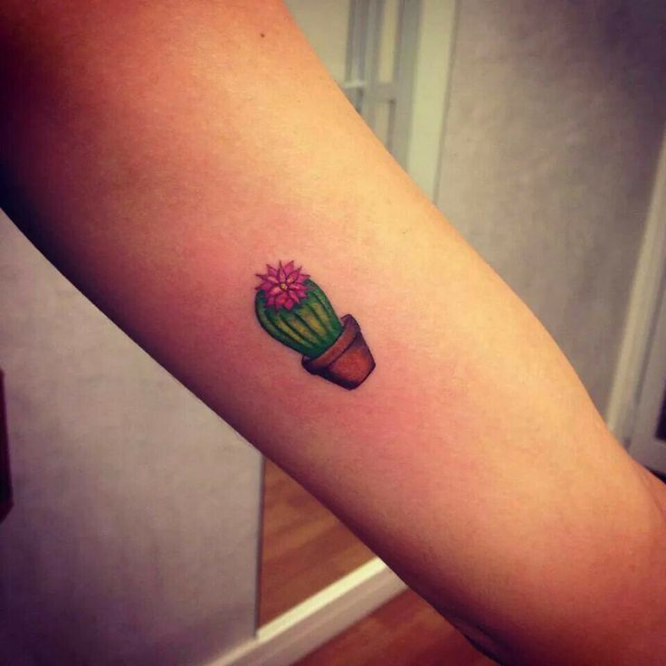 cb2b8ee5b4017 Small cactus arm tattoo - | TattooMagz › Tattoo Designs / Ink Works ...