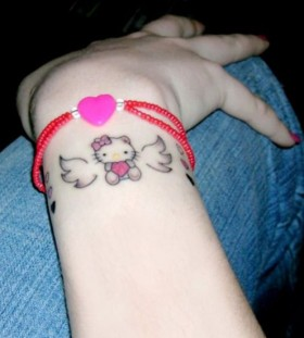 Small hello kitty tattoo