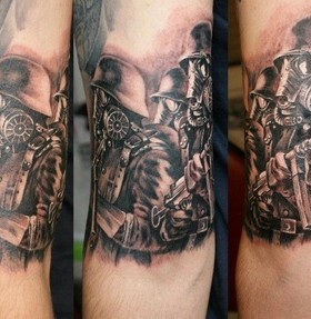 Soldiers tattoo on arm