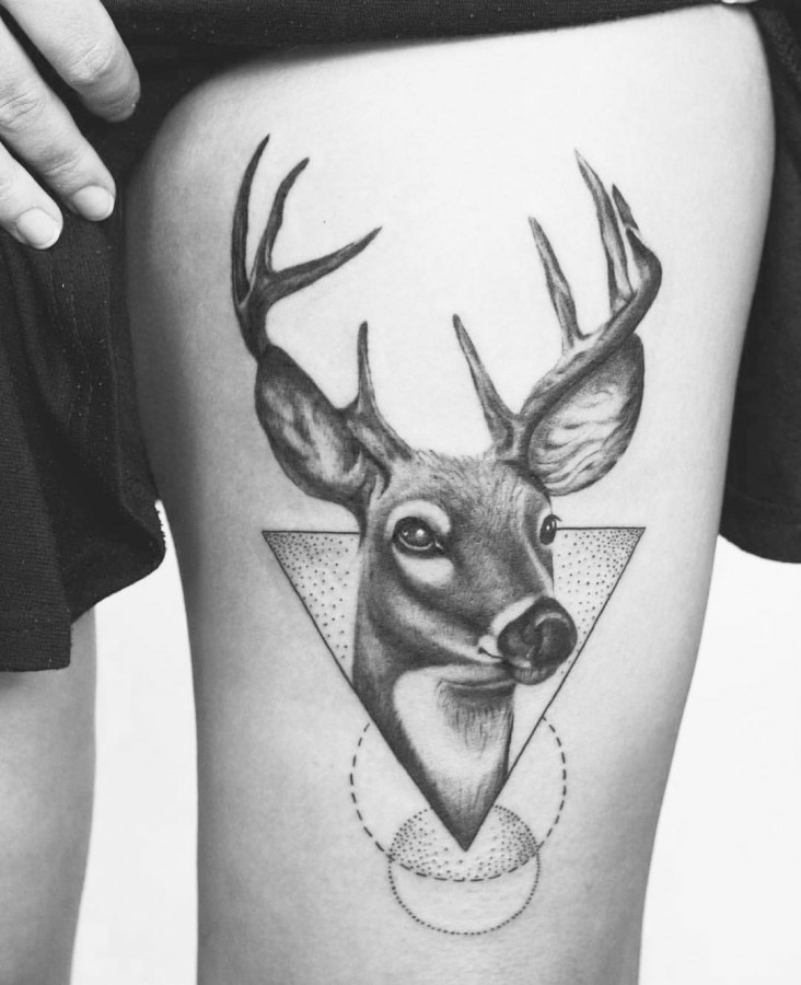 stag tattoo by tritoan_ly