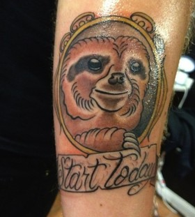 Start today sloth tattoo