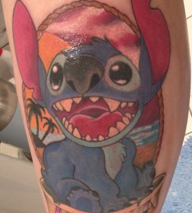Stitch frame aloha tattoo