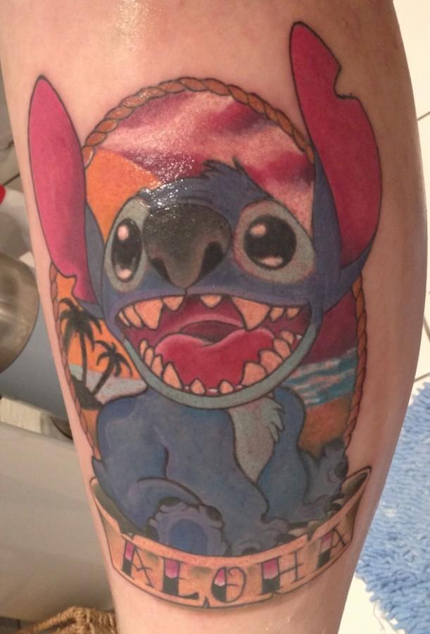 Stitch frame aloha tattoo