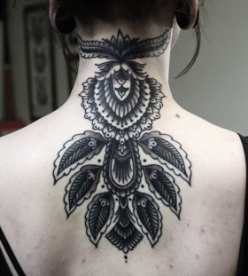Stunning back tattoo by Philip Yarnell