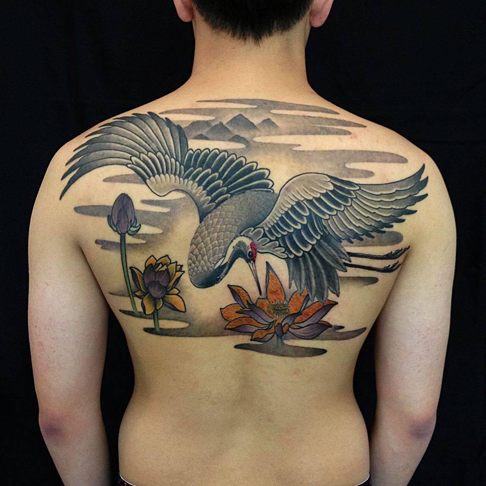 Crane tattoos