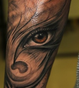 Stunning eye tattoo by Riccardo Cassese