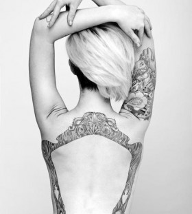 Stunning frame back tattoo