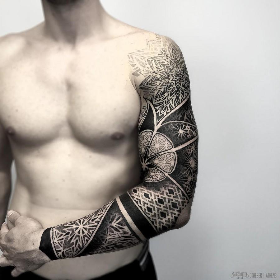 Mandala Sleeve Tattoos