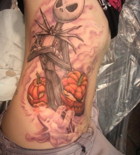 Stunning jack skellington tattoo