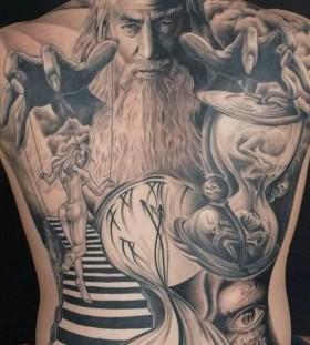 Stunning puppet master back tattoo