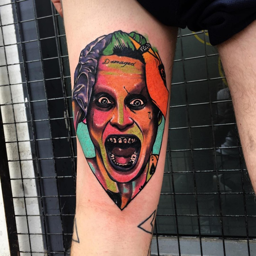 suicide squad tattoo by littleandytattoo
