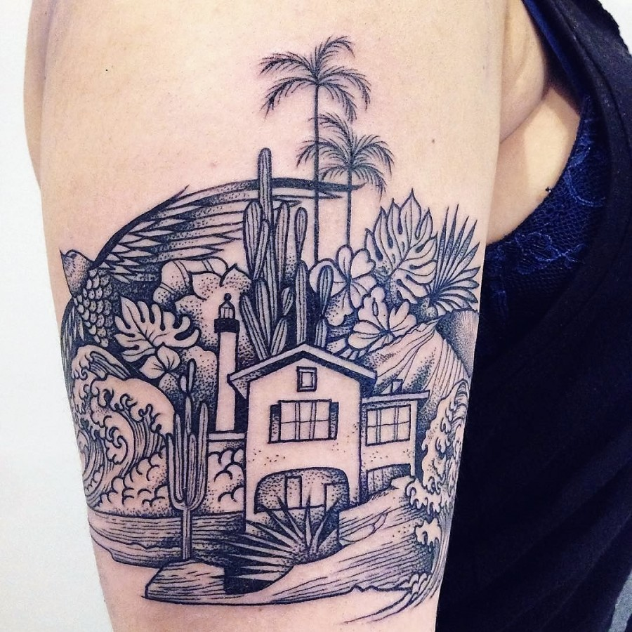 supakitch-bleunoir-line-house-blackwork-tattoo
