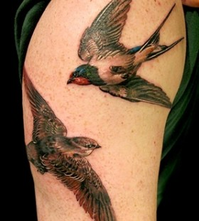 Swallow tattoo by Esther Garcia