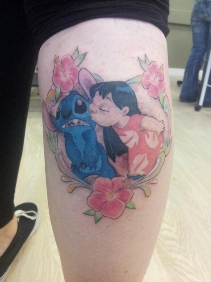 Sweet Lilo and Stitch tattoo