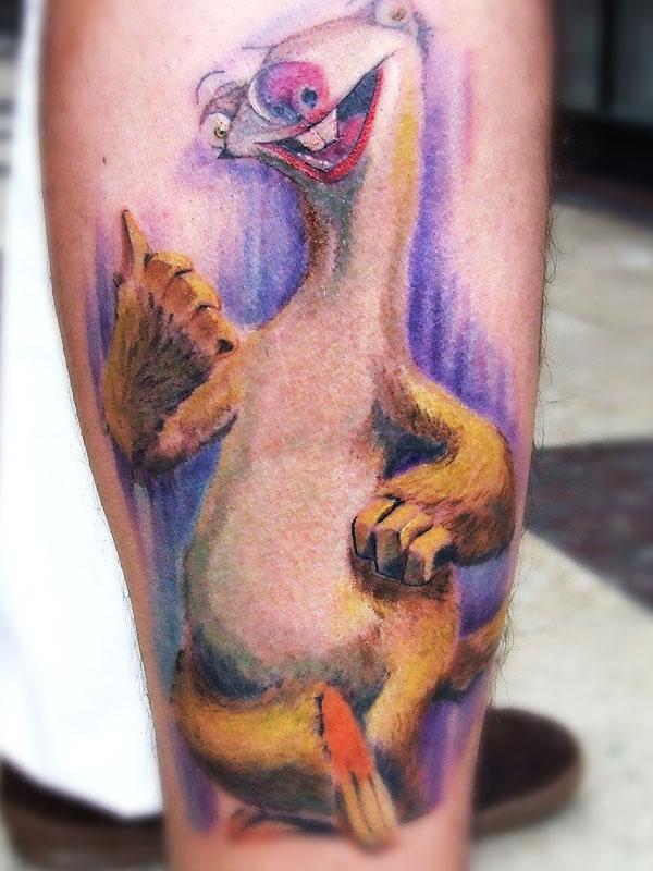 Sweet Sid leg tattoo
