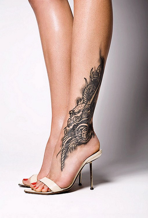 Sweet ankle tattoo design
