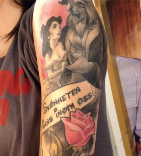 Sweet beauty and the beast tattoo