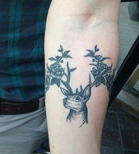 Sweet deer tattoo by Rebecca Vincent