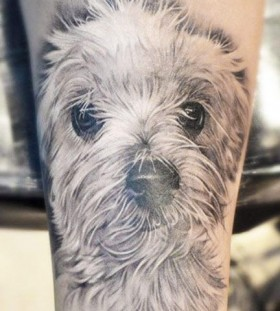 Sweet dog tattoo by Elvin Yong