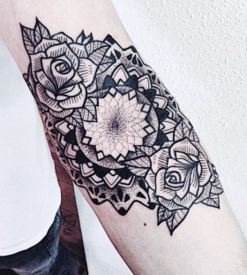 Sweet flowers arm tattoo