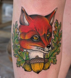 Sweet fox tattoo design