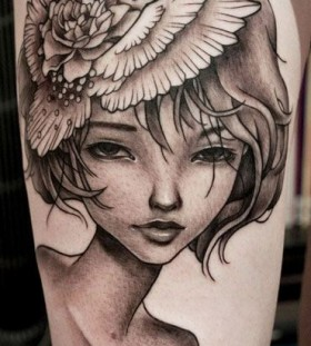Sweet girl tattoo by Benjamin Laukis