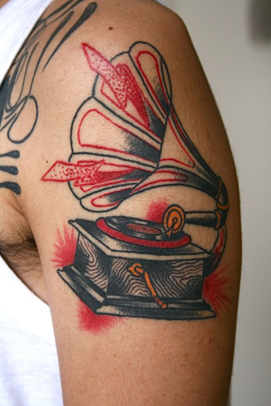 Gramophone tattoos