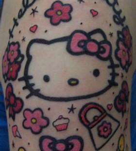 Sweet hello kitty tattoo