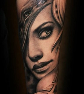 Sweet lady tattoo by Riccardo Cassese