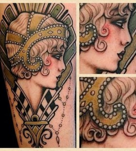 Sweet lady tattoo by W. T. Norbert