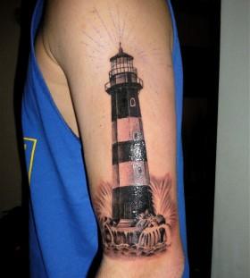 Sweet lighthouse arm tattoo