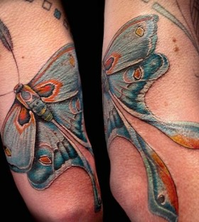 Sweet moth tattoo by Esther Garcia