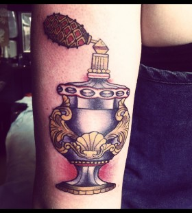Sweet perfume bottle tattoo