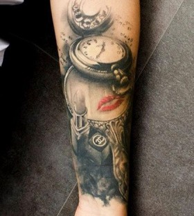 Sweet pocket watch tattoo
