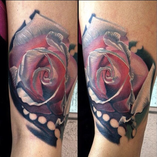 Sweet rose tattoo by Phil Garcia