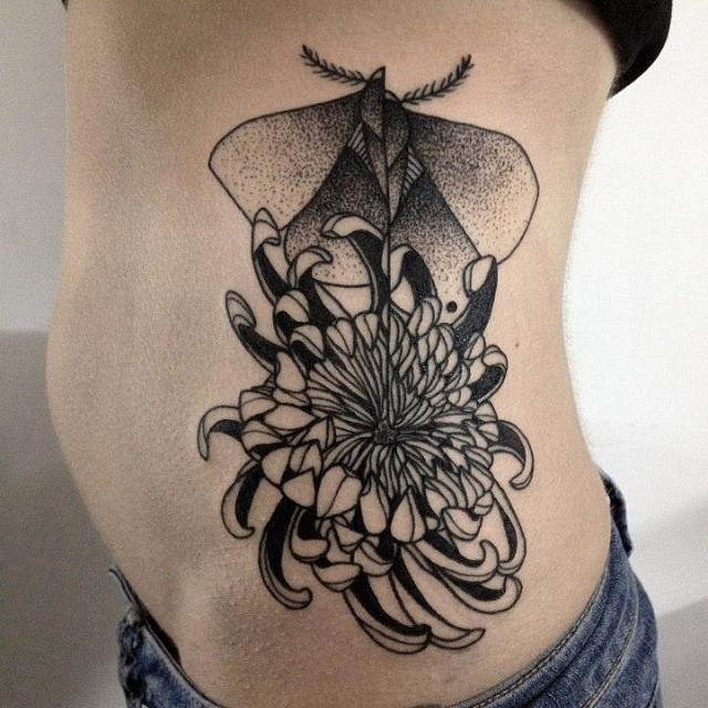 Sweet side tattoo by Michele Zingales