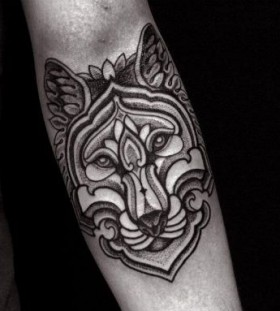 Sweet wolf tattoo by Brian Gomes