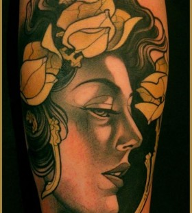 Sweet woman tattoo by Lars Uwe Jensen