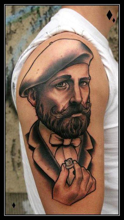 Tattoo of a man by Daniel Gensch